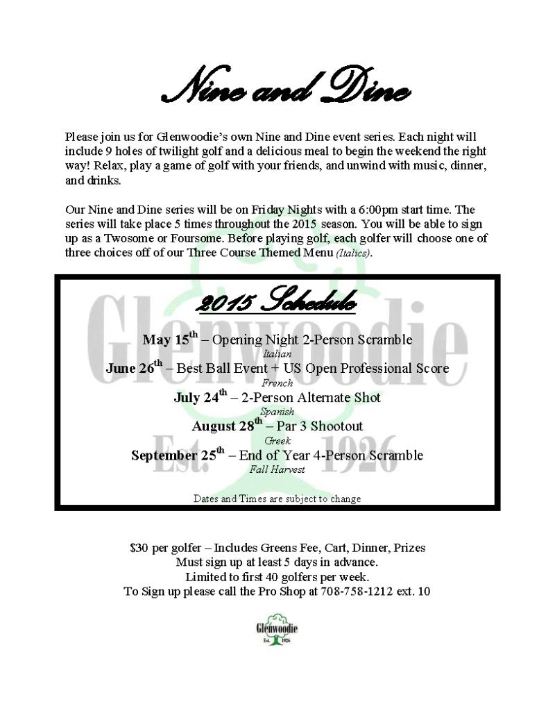2015 Nine and Dine Flyer